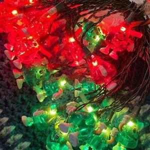 Red & Green Herseys kisses holiday lights